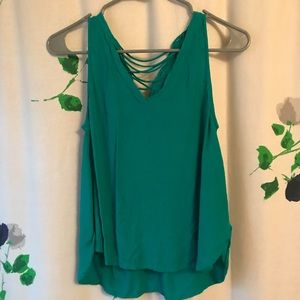 green cross back tank top